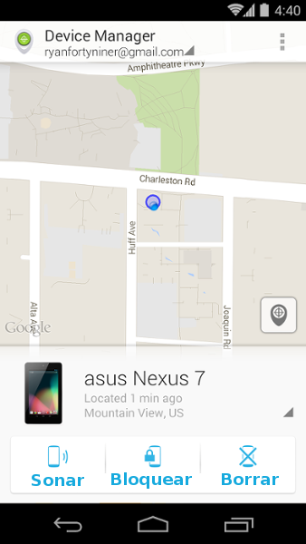 Captura Android Device Manager