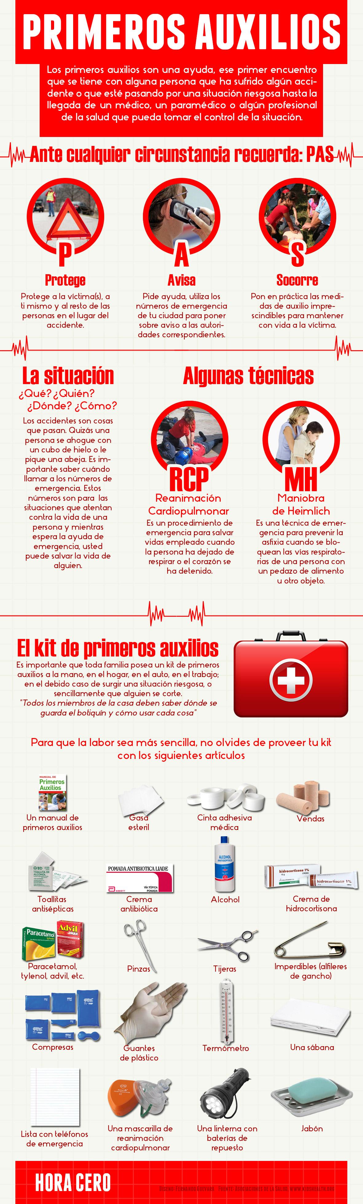 Infografía: Primeros Auxilios