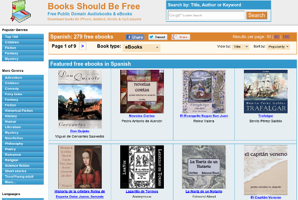 Web de Books should be free.