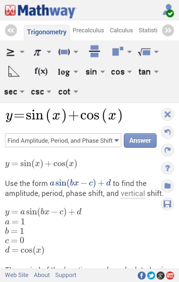 Captura de Mathway