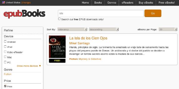 Web de epubBooks.