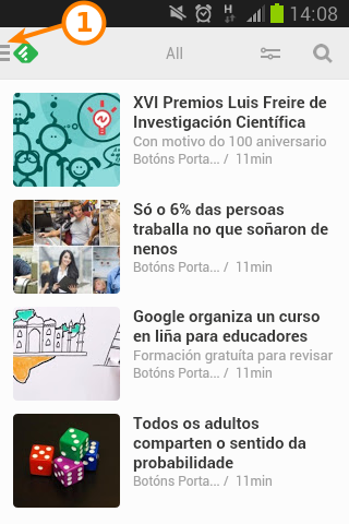Captura de Feedly