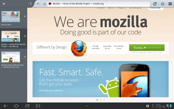 Capturas de Firefox Mobile
