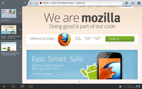 Capturas de Firefox Mobile