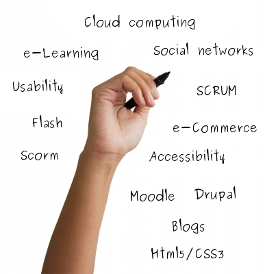 Concepts: Cloud computing, e-Learning, SCRUM, moodle, drupal, elgg, Flash, Scorm, Social Networks