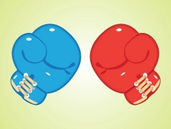 Miniatura guantes de boxeo