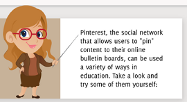 Miniatura da Infografía: 16 formas en que los profesores pueden utilizar Pinterest.