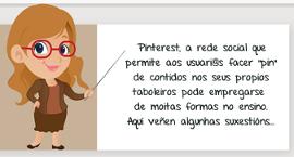 Miniatura da Infografía: 16 formas na que os profesores poden empregar Pinterest.