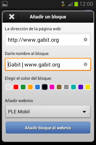 Captura de la App Symbaloo (4)