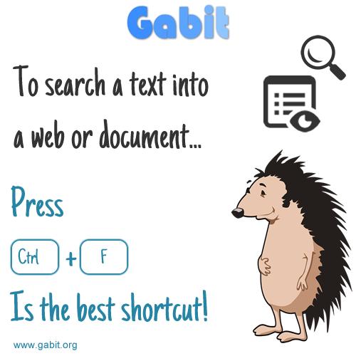 Consejo rápido: Ctrl + F para buscar en una web o documento rápidamente