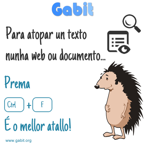 Axuda rápida: Ctrl + F para buscar nunha web ou documento rapidamente