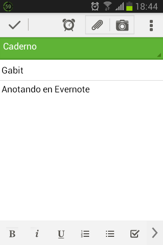 Captura de Evernote