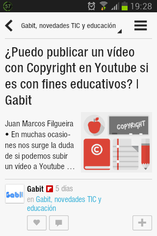 Captura de Flipboard