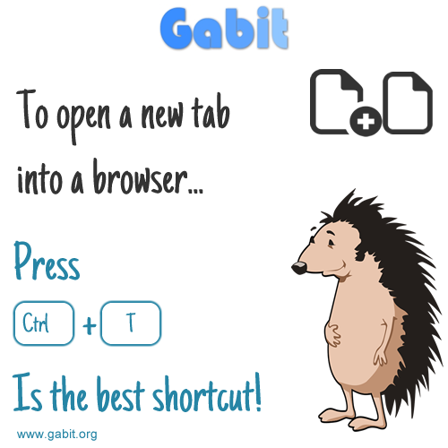 Fast tip: Ctrl + T to open a new tab into a browser